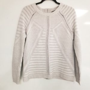 THE LIMITED Chunky Knit Sweater w/ Back Zipper